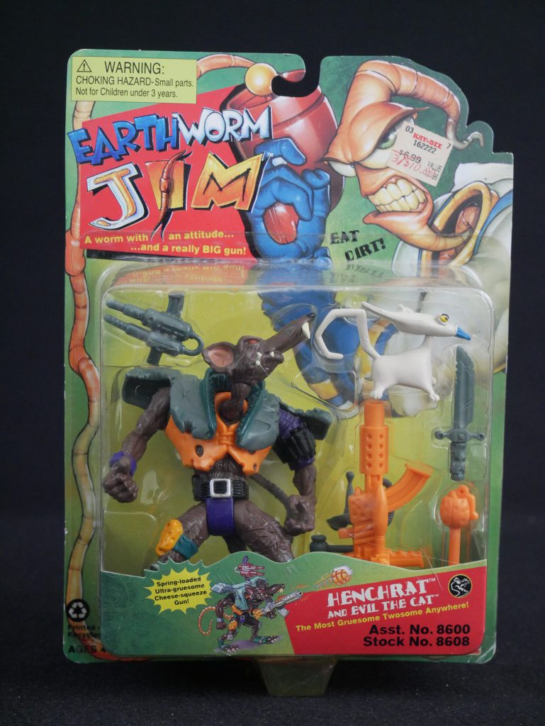Playmates Toys Earthworm Jim Figures Henchrat and Evil the Cat