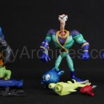 Earthworm Jim Figures - Psycrow, Deep Sea Jim, Earthworm Jim Hardcopies
