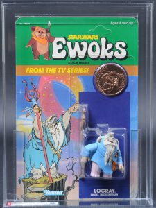 Kenner Ewoks Animated Logray Card Front