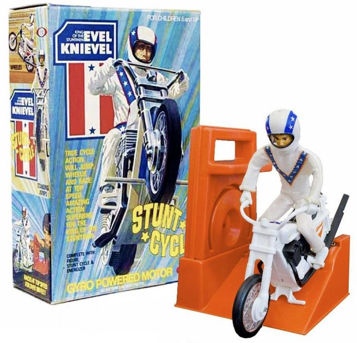 Evel Knievel Stunt Cycle Ideal Toys
